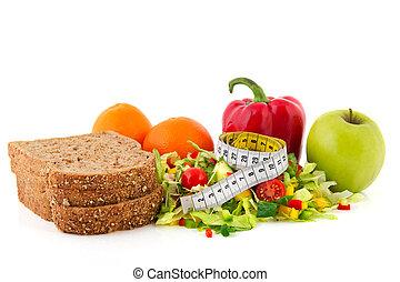 mierniczy taśma, mąka, dieta