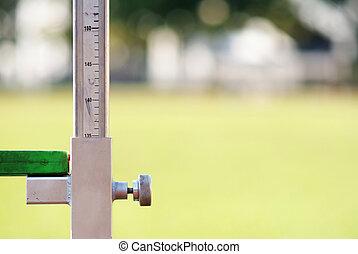 mierniczy, wysoki, atletyka, skok