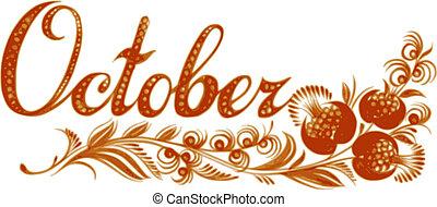 miesiąc, październik, nazwa