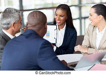 miesięcznik, grupa, spotkanie, posiadanie, handlowy