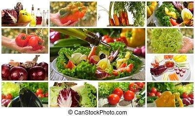 mieszana zielenina, rozmaity, sałata