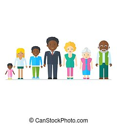 mieszany, czarna rodzina