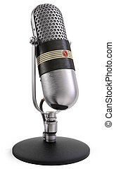 mikrofon, radio, rozmowa