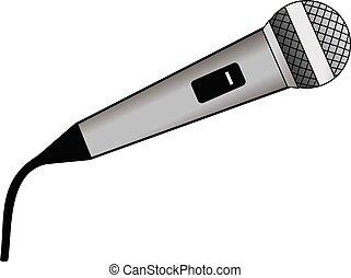 mikrofon, wektor, projektować