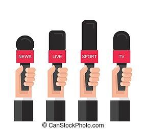 mikrofony, dzierżawa wręcza, komplet