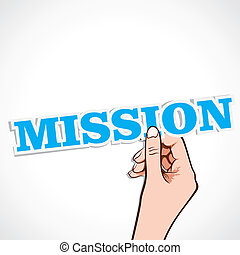 misja, ręka, słowo