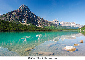 mistaya, panorama, jezioro
