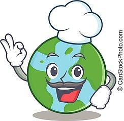 mistrz kucharski, światowa kula, litera, rysunek