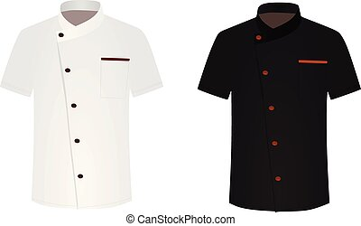 mistrz kucharski, biały, czarna koszula