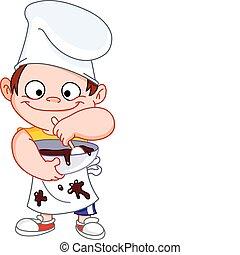 mistrz kucharski, chłopiec