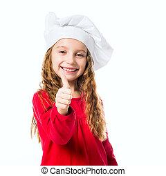 mistrz kucharski, dziewczyna, kapelusz