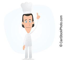 mistrz kucharski, górny, jego, palec, punkty