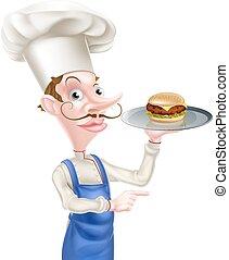 mistrz kucharski, hamburger, spoinowanie