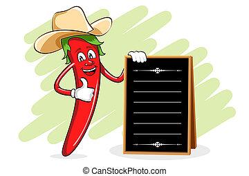 mistrz kucharski, menu, chili, deska