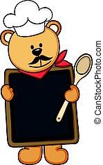 mistrz kucharski, menu, niedźwiedź, teddy
