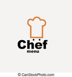 mistrz kucharski, menu, -, projektować, szablon