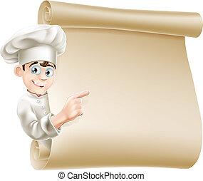 mistrz kucharski, menu, rysunek