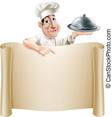 mistrz kucharski, menu, rysunek, spoinowanie