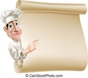 mistrz kucharski, menu, woluta, ilustracja