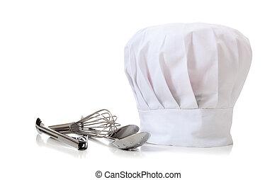 mistrz kucharski, przybory, kapelusz