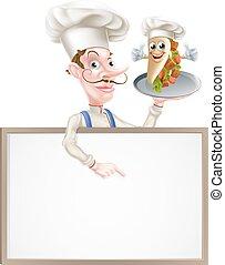 mistrz kucharski, rysunek, kebab, spoinowanie, znak
