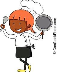 mistrz kucharski, samica