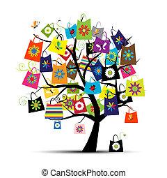 mnóstwo, projektować, zakupy, twój, drzewo
