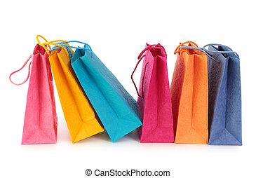 mnóstwo, zakupy, barwny