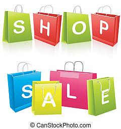 mnóstwo, zakupy, sprzedaż