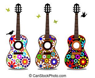 moc kwiatu, gitary