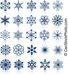 modeluje, 2, komplet, płatek śniegu
