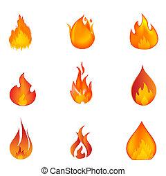 modeluje, ogień