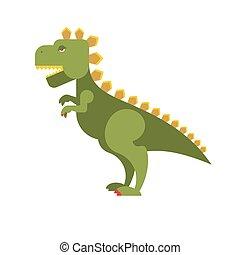 monster., straszliwy, godzilla, toothy, destroyer., dinozaur, zielony, cielna, animal., agresywny, nikczemny