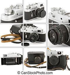 montaż, aparat fotograficzny rocznika