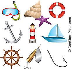morze, ikony