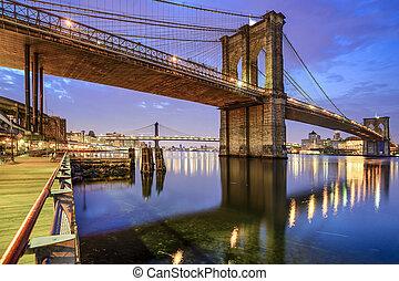 most, brooklyn, york, nowy, miasto