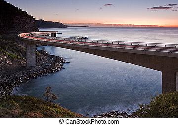 most, morze, urwisko