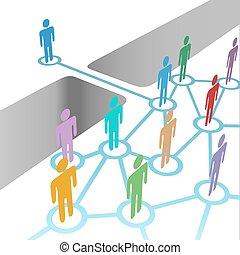 most, wstąpić, sieć, połączenie, członkostwo, rozmaity