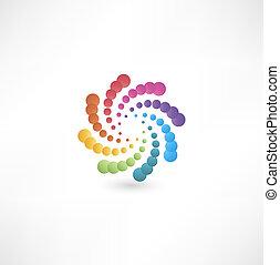 motion., projektować, spirala, elementy