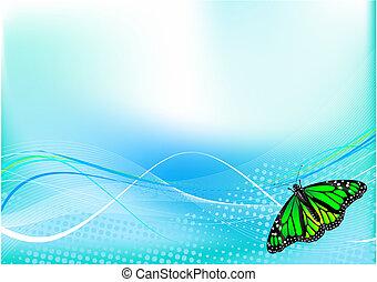 motyl, tło, abstrakcyjny
