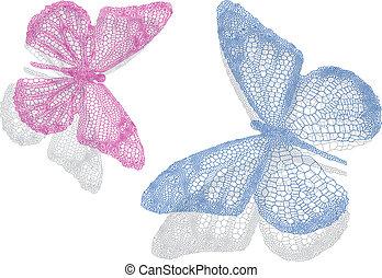 motyle, cień