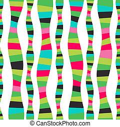 mozaika, raster, backdrop., barwny, abstrakcyjny, seamless, próbka, watermellon., tło., jasny, falisty pas, fale, stripes., pasiasty, machać, hand-drawn, wężowaty