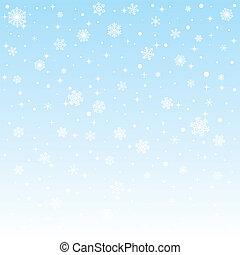 mrożony, boże narodzenie, tło, płatki śniegu