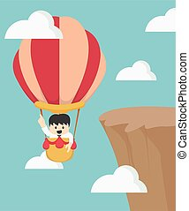 mucha, biznesmen, balloon, puste słowa
