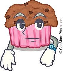 muffins, płyta, usługiwanie, maskotka, czekolada
