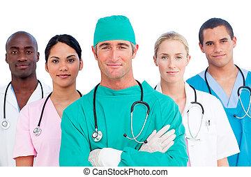 multi-ethnic, medyczny zaprzęg, portret