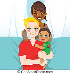 multi, rodzina, etniczny