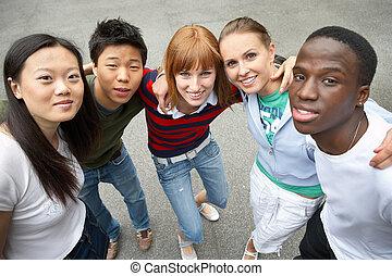 multicultural, przyjaciele