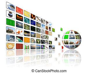 multimedia, tło
