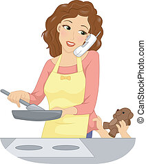 multitasking, mamusia